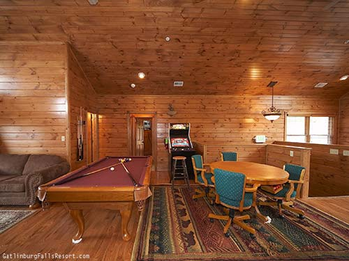 Gatlinburg Cabin Game Room