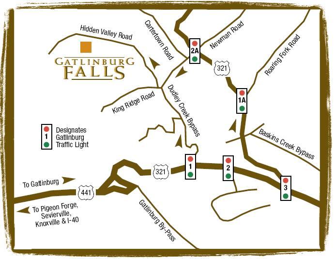 Directions To Gatlinburg Falls Resort